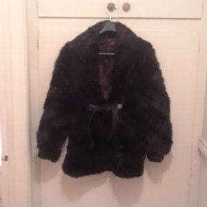 Jackets & Blazers - Rabbit fur coat